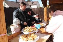 První letošní pečení ve Volarském muzeu bylo velikonoční.