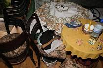 Po nájezdu zlodějů zůstává v  rekreačních objektech minimálně nepořádek.  Cennější věci většinou zmizí.