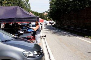 Nad Prachaticemi se jel závod MČR automobilů do vrchu.