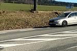 Kontroly řidičů na hranicích okresů Prachatice a Strakonice u Čkyně.