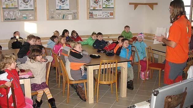 Výuka v enviromentálním centru ve Strunkovicích nad Blanicí.