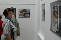 Zahájení výstavy fotografií Evy Matysové.