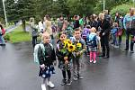 První školní den ve Volarech.