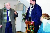 DIVADLO JEDNÉ HEREČKY. V podání herečky Stáni Hoškové byla v netolickém muzeu uskutečněna divadelní hra Eliška Přemyslovna.