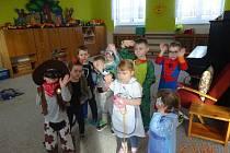 Karneval v Mateřské škole v ulici U Stadionu v Prachaticích.