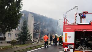 Výbuch v bytovém domě v Lenoře. Jeden mrtvý