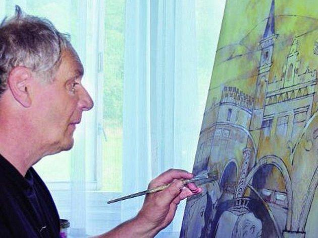 USILOVNÁ PRÁCE NA DÍLECH. Významní evropští výtvarníci současného moderního umění ve svých dílech ztvárňují motivy renesančních Prachatic.