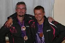 Nelepší hráči turnaje - odleva M. Milota a O. Kolář.