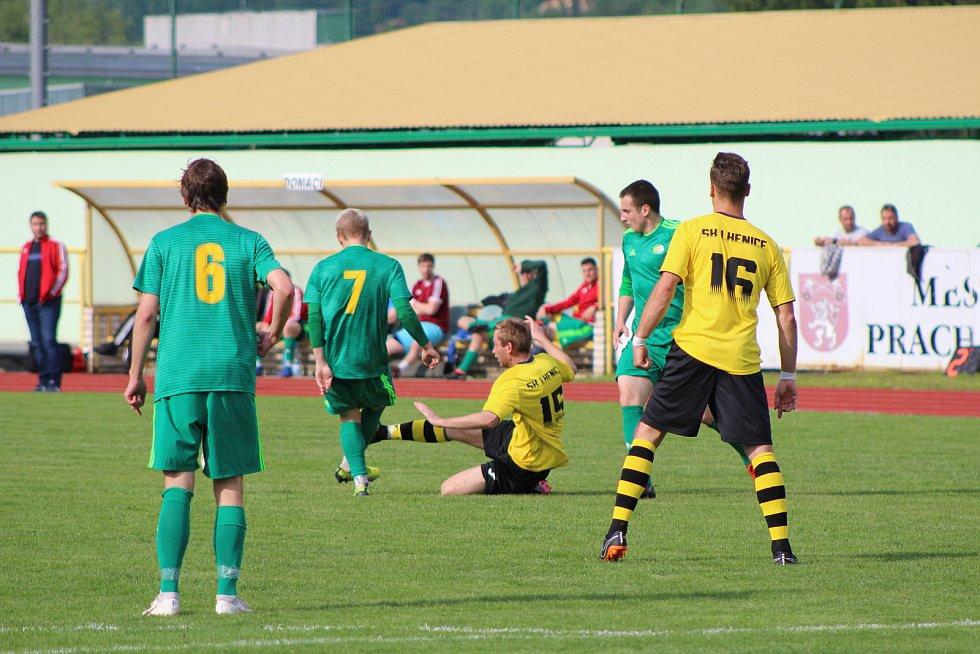 Fotbalová I.A třída: Prachatice - Lhenice 1:1.