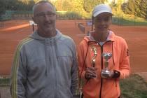 Kamila Neradová (na snímku s Pavlem Čihákem) vybojovala v Klatovech dvě třetí místa.