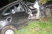 Naposledy se vinou alkoholu odehrála nehodu u Boubské. Řidič byl zraněn.