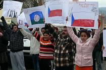 Místní Romové vyjádřli svůj nesouhlas s názory DSSS.