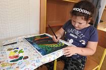 Obrázky, které vznikly pod rukama dětí ze ZŠ Vodňanská.
