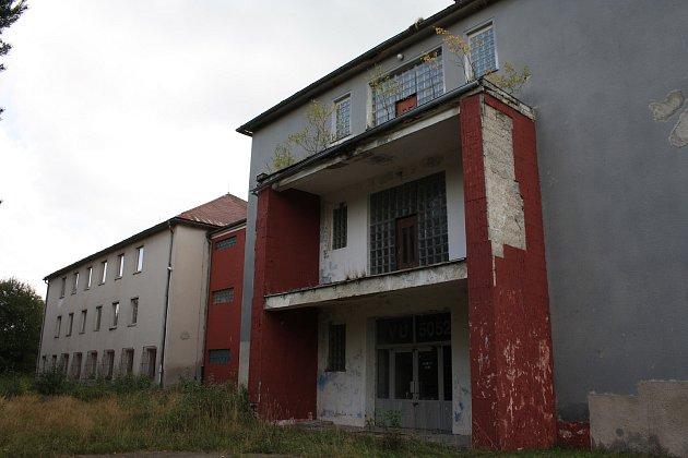 Vimperk, areál bývalých kasáren U Sloupů. Ilustrační foto