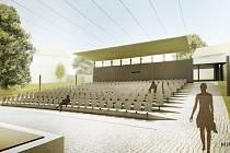 Letní kino v Prachaticích podle studie Mimosa architekti.