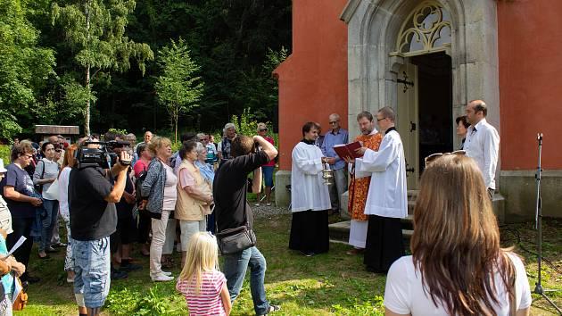 Prachatičtí otevřeli opravenou kapli sv. Markéty na Lázních sv. Markéty.