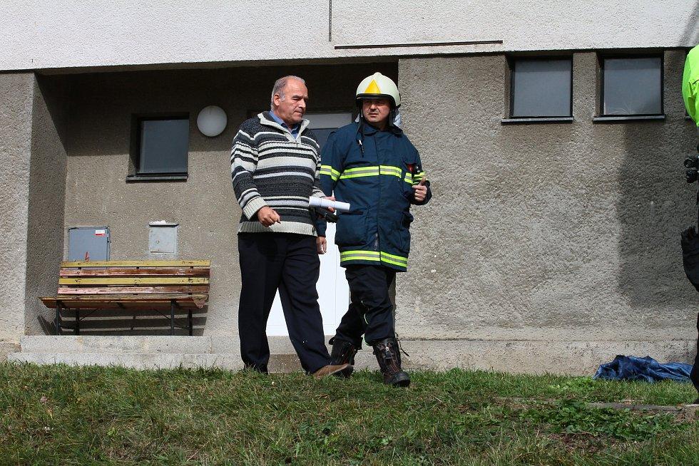 Výbuch v Lenoře zdemoloval obytný dům. Foto: Deník/Stanislav Falář
