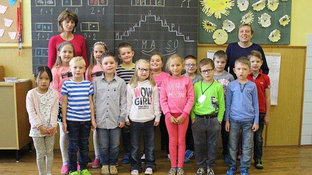 1. B třída ze Základní školy ve Smetanově ulici ve Vimperku.