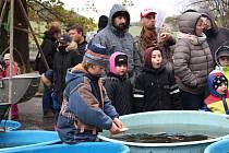 Výlov Dubského rybníku byl již tradičně středem zájmu široké veřejnosti. Na své si tu přišly ale i děti.