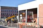 Obchodní centrum ve Volarech se již rýsuje.