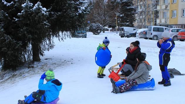 Zimní radovánky ve Volarech.