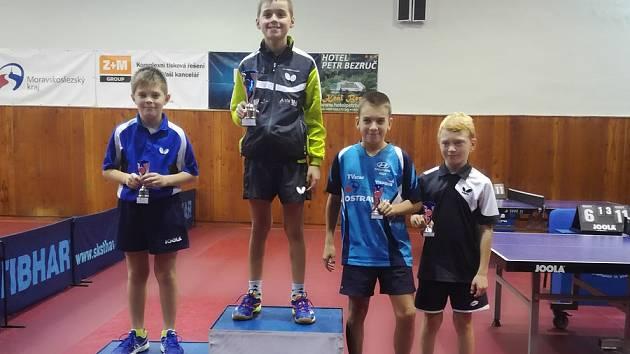 Petr Hodina skončil ve dvouhře nejmladších žáků druhý.