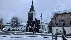První sníh na Kvildě 2020
