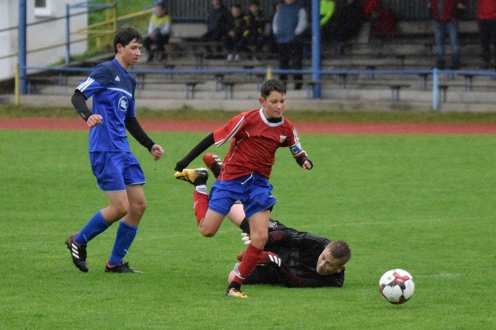 Fotbalový KP starších žáků: Vimperk - Milevsko 4:2.