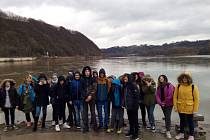 Žáci z Vodňanky na veletrhu v Pasově.