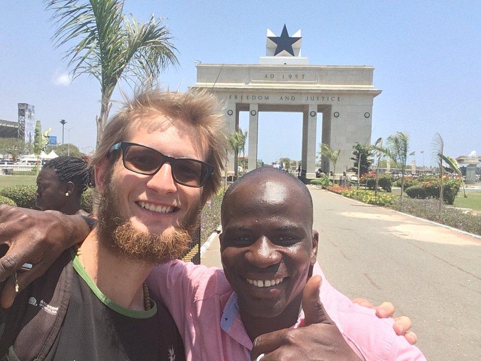 Tadeáš Šima a jeho další obrázky z cestování na kole po Africe.