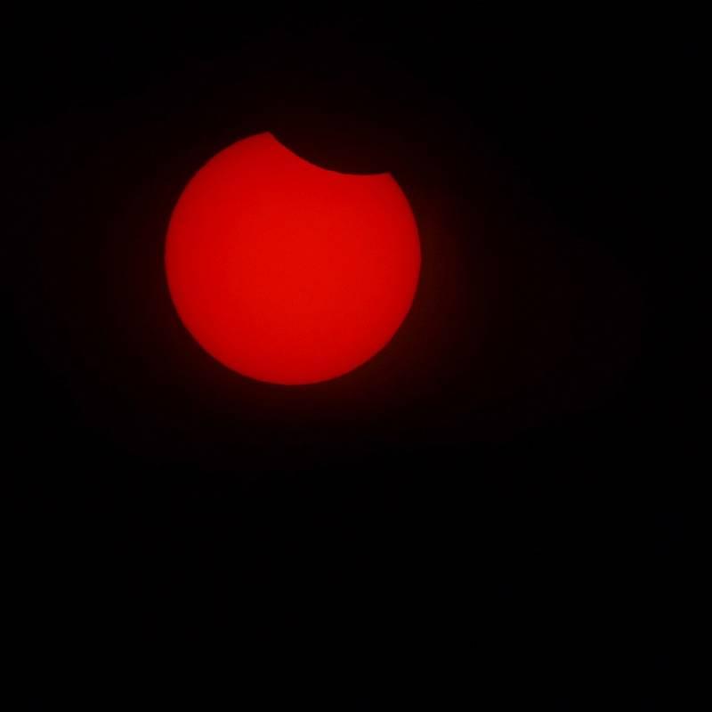 Částečné zatmění slunce Srubec.
