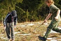 Vimperští skauti zkoušeli v neděli na výletě lakros