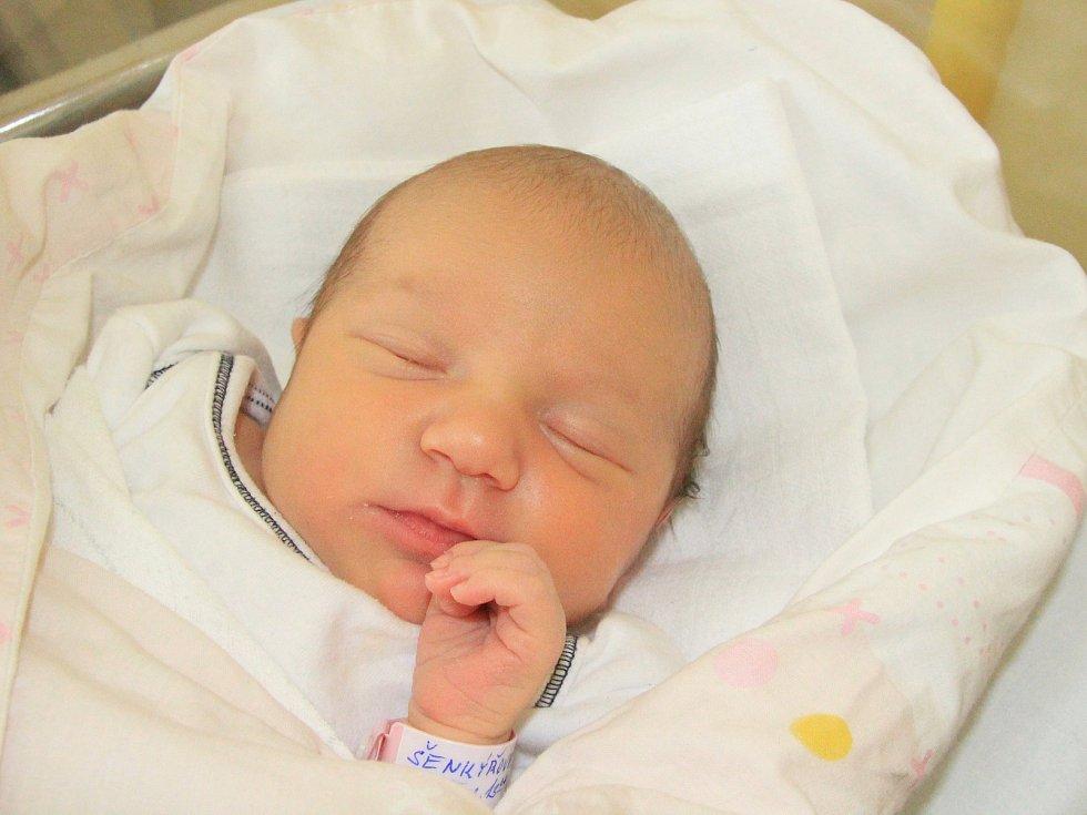 ELIŠKA ŠENKÝŘOVÁ, KVĚTUŠÍN. Narodila se v pátek 7. června ve 13 hodin a 8 minut v prachatické porodnici. Vážila 3280 gramů a měřila 49 centimetrů. Rodiče: Petra Nevřelová a Jan Šenkýř.