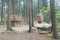 Areál lesních her nad Lázněmi sv. Markéty.