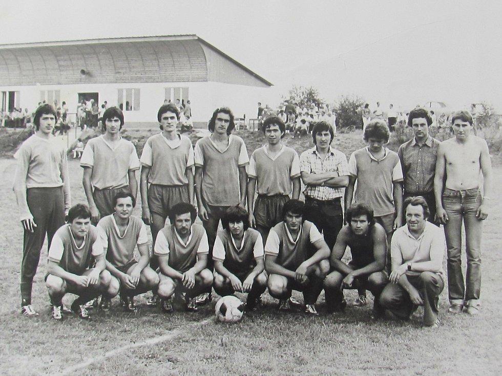 Z historie lažišťského fotbalu. Foto: Archiv FK Lažiště