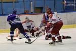 Vimperští hokejisté padli v Pelhřimově 2:3 na trestná střílení. Ilustrační foto.