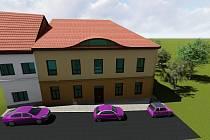Podoba domu Na křižovatce podle akademického architekta Libora Fránka.