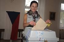 Volební místnost ve Čkyni