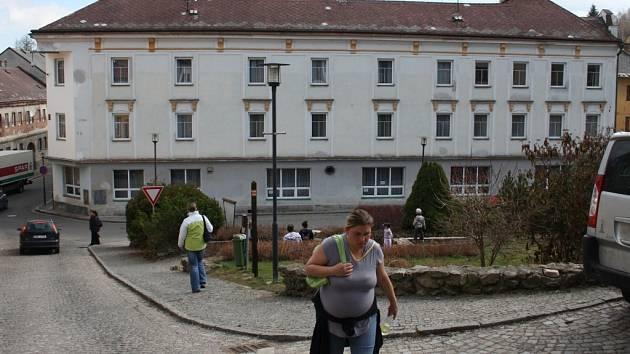 Hotel Vltava ve Vimperku.