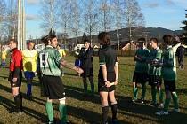 Utkání volarského týmu s Křemží pro domácího golmana skončilo předčasně.