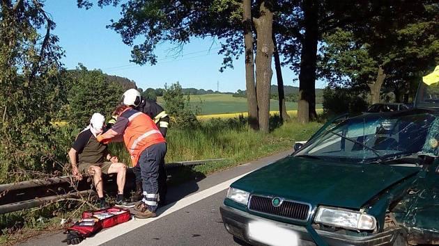 Nedělní nehoda u Hracholusk.