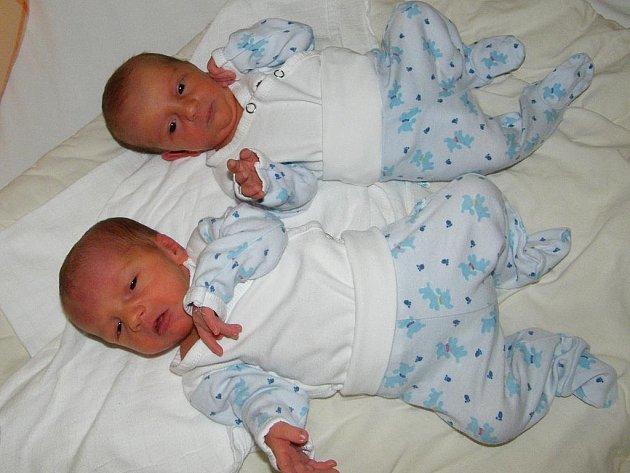 Dvojčátka Pavel a Adam Karabiňošovi přišla na svět v prachatické porodnici 9. listopadu. Pavlík se narodil v 00:30 hodin, vážil 2,39 kilogramu a měřil 46 centimetrů a jeho bratříček Adámek se narodil o pět minut později s mírami 46 cm a 2,59 kilogramu.