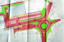POVOLENÍ. Stavební povolení na kruhovou křižovatku ve Vodňanské ulici je vydané. V létě by se mělo začít stavět.