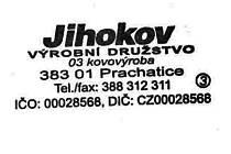 Podobné razítko udcizil zloděj z kanceláře firmy Jihokov. Jediný rozdíl je v očíslování razítka. To odcizené má v kroužku číslici 1.