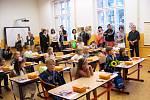 Zahájení školního roku v ZŠ TGM ve Vimperku.