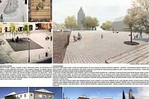 Studie rekonstrukce náměstí počítá s tím, že v centru Strunkovic nad Blanicí vznikne prostor bez vozidel, tedy odpočinková plocha.