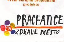 Prachatice - Zdravé město. Logo nakreslil Miroslav Špaček