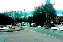 Jediné semafory v Prachaticích jsou v oblasti Pod Lázněmi.