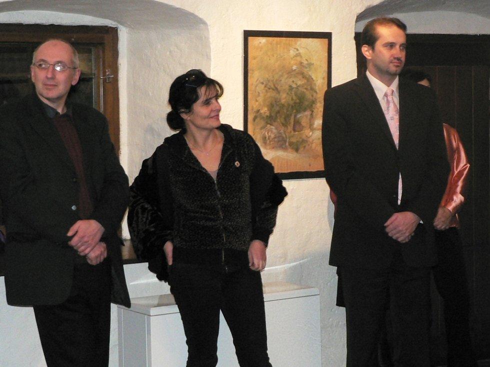 Zahájení výstavy obrazů Jany Krausové a Karla Rodena v prachatické Galerii Dolní brána