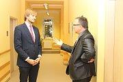 Ministr zdravotnictví v demisi Adam Vojtěch navštívil Hospic sv. Jana N. Neumanna v Prachaticích.